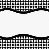 Black and White Diamond Background with Ribbon — Stock Photo
