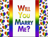 LGBT Will You Marry Me Message — Stock Photo