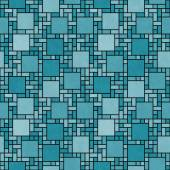 Teal and Black Square Mosaic Abstract Geometric Design Tile Patt — Stock Photo