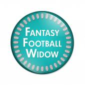 Fantasy Football Widow Button — Stock Photo