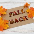 Fall Back Card — Stockfoto #83119470