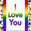 LGBT I Love You Message — Stock Photo #83773308