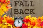 Fall Back Time Change — Stock Photo