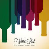 Bright wine list menu cover — Stock Vector