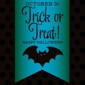 Bat Halloween sash card — Stock Vector