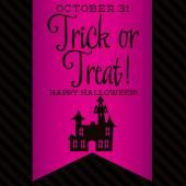 Haunted house Halloween sash card — Stock Vector