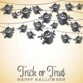 Ghost Halloween string card — Stock Vector