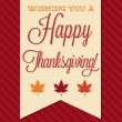 Sash Happy Thanksgiving card — Stock Vector #58388415