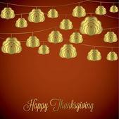 Elegant string Thanksgiving card — Stock Vector