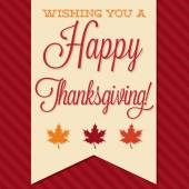 Sash Happy Thanksgiving card — Stock Vector