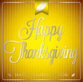 Typographic elegant thanksgiving card — Stock Vector