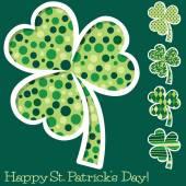 Retro St. Patrick's Day shamrocks in vector format. — Stockvektor