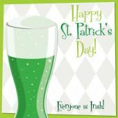 Funky bright St. Patrick's Day card in vector format. — Stok Vektör
