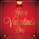 Elegant typographic Valentine's Day card in vector format. — Stock Vector