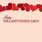 Vintage typografische Valentine's Day card in vector-formaat. — Stockvector