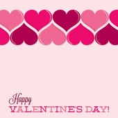 Valentine's Day heart line card in vector format. — Stock Vector