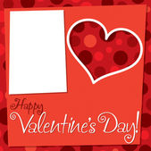 Cut out retro Valentine's Day card in vector format. — Stock Vector