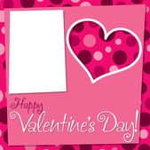 Uitgesneden retro Valentijnsdag kaart in vector-formaat. — Stockvector
