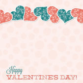 Vintage Typographic Valentine's Day card in vector format. — Stock Vector