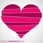 Love heart Valentine's Day card in vector format. — Stock vektor