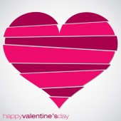 Love heart Valentine's Day card in vector format. — Stock Vector