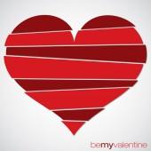 Love heart Valentine's Day card in vector format. — Stockvektor