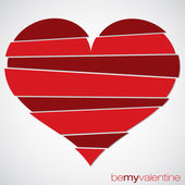Love heart Valentine's Day card in vector format. — 图库矢量图片