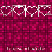 Continuous line heart Valentine's Day card in vector format. — Stock Vector