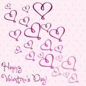 Aftelkalender voor Valentijnsdag hart kaart in vector-formaat. — Stockvector