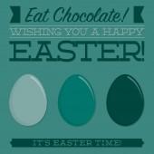 Retro style Easter typographic card in vector format. — Vector de stock