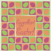 Mosaic funky Easter card in vector format. — Stock Vector