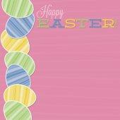 Retro Easter egg card in vector format. — Stock Vector