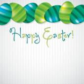 Bright Egg Happy Easter card in vector format. — Stock Vector