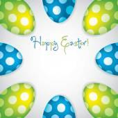 Circle of Easter eggs border in vector format. — Vecteur