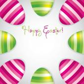 Circle of Easter eggs border in vector format. — Stockvektor