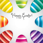 Circle of Easter eggs border in vector format. — Stock Vector