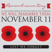 Remembrance Day card — Stock Vector