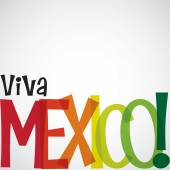 Bright typographic Viva Mexico card in vector format. — Stock Vector