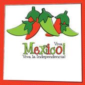 Hand Drawn Cinco de Mayo Chili Pepper in vector format. — Stock Vector