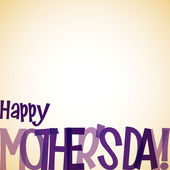 Bright typographic Mother's Day card in vector format. — ストックベクタ