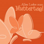 Hand Drawn German Happy Mother's Day card in vector format. — Stock Vector