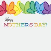 Line of butterflies Mother's Day card in vector format. — Vector de stock