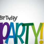 Typographic Birthday card in vector format. — Stock Vector