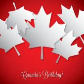 Happy Canada Day card — Stock Vector