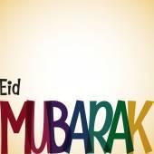 Typographic Eid Mubarak card — Stock Vector