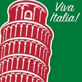 Viva Italy card — Stock Vector