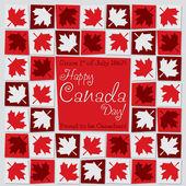 Carta di mosaico di giorno del Canada — Vettoriale Stock