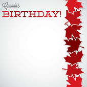 Canada Birthday card — Stock Vector