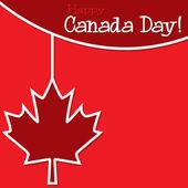 Happy Canada Day card — Stock Vector