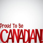 Proud to be Canadian card — Stock Vector